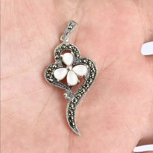 Ottoman Floral Solid Sterling Silver Pendant